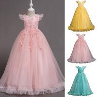 Flower Girl Princess Dress Kid Pageant Party Wedding Bridesmaid Birthday Dresses