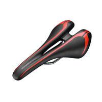 RockBros Cycling Saddle MTB Road Bike PU Leather Hollow Saddle Seat Black Red