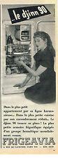 PUBLICITE ADVERTISING 045  1954  FRIGEAVIA BRIGITTE BARDOT pour le réfrigérateur