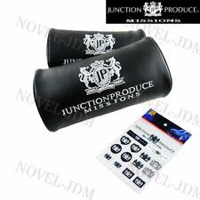 Black JUNCTION PRODUCE VIP Car Neck Rest Pillow Headrest +Reflective Sticker Set