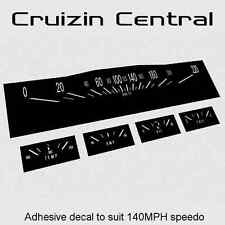 Plastic BLACK DECALS Holden Kingswood HK GTS gauge dash speedo adhesive