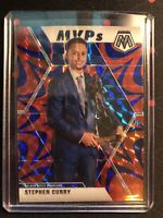 2019-20 Panini Mosaic STEPHEN CURRY MVPs Reactive Blue Mosaic Prizm #299 SP