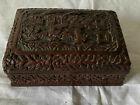 Antique Chinese Cinnabar Box SIGNED plus 19th Century LABEL Authentic