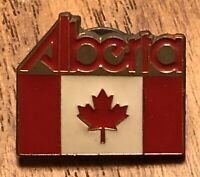 Alberta Canada Canadian Flag Travel Souvenir Lapel Hat Pin Pinback ~ Maple Leaf