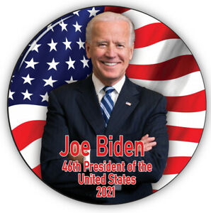 """QTY 1 JOE BIDEN  46TH PRESIDENT OF THE UNITED STATES 2021 3"""" PIN BACK BUTTON"""