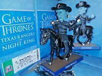 Night King (2019) Texas Rangers SGA Bobblehead Game of Thrones GOT w/Ticket Stub