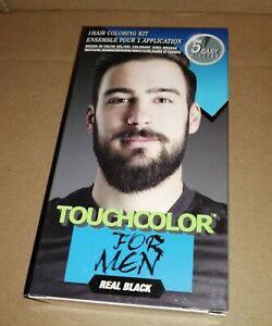 touch up Colour Dye for men Gel Moustache and Beard Natural natural black brush