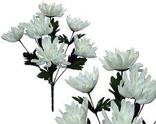 Lot of 144 Cream Poly-silk Mums Wedding Home Decor Craft Bouquet Value Flower