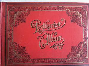 altes Post/Ansichtskartenalbum • 70 Karten