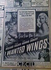 JUNE 6, 1941 NEWSPAPER PAGE #J5941- VERONICA LAKE- THRILL-LADEN ROMANCE