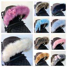 Mothercare hoof fur Spin Journey Genie Hood fur Trim pram hood fur Winter fur