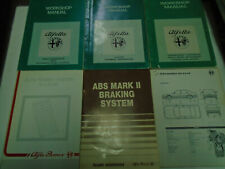 1990s Alfa Romeo Alfetta Service Repair Shop Manual Factory OEM 6 Volume Set ***