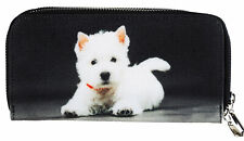More details for large size westie white puppy dog design ladies purse