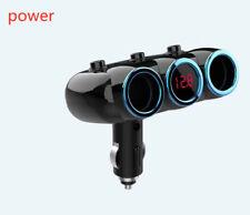 Cigarette Lighter Socket 3 USB LED Charger Splitter 12V Power Adapter Car WQC07