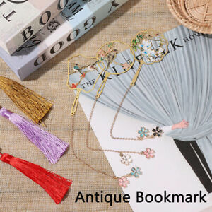 Mark Chinese Style Metal Book Markers Bookmark Tassel Book Clip Brass