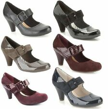 Clarks Block Heel Mary Janes for Women