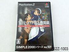 The Maid Uniform & Machine Gun Playstation 2 Japanese Import PS2 US Seller A