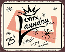 (VMA-L-6542) Coin Laundry Vintage Metal Art Laundry Cleaning Retro Tin Sign
