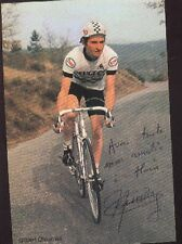 GILBERT CHAUMAZ cyclisme Signée PEUGEOT 80 autographe cycling ciclismo TDF vélo