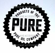 "Vintage PURE Oil Co 4"" Vinyl Decal Sticker"