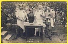 cpa CARTE PHOTO GERMANY Souvenir à WALLDORF 1919 Soldat 77 sur col Militaires