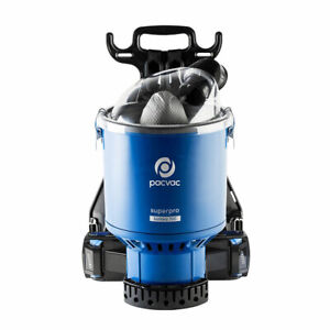 Pacvac Superpro Battery 700 Advanced Backpack Vacuum Cleaner with 4 Batteries