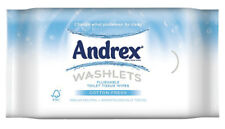 12x Andrex Washlets Flushable Toilet Wipes Classic 40 Tissues Wetwipes Clean