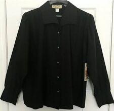 ��Wah Maker Old West Clothing Women Xxl Shirt Blouse Black Victorian Nwt