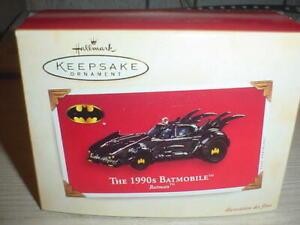 HALLMARK THE 1990S BATMOBILE 2003 BATMAN CHRISTMAS KEEPSAKE ORNAMENTS CAR