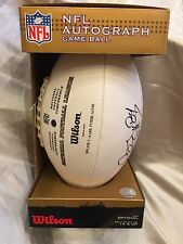"""WILSON NFL AUTOGRAPHED LEATHER GAME BALL """"THE DUKE"""" – JOEY GALLOWAY  #84"""