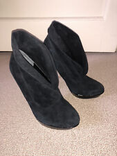 DUNE Soft Suede Ankle Boots Black 5/38