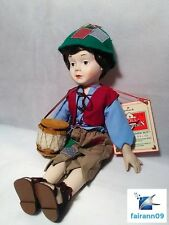 RARE Hallmark Little Drummer Boy Christmas Doll Porcelain Figurine Decoration
