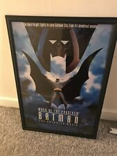 Batman COA Signed Bob Kane Mask Of The Phantasm Movie Poster Framed dc comic