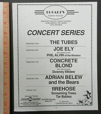The Tubes Concrete Blond Firehose Bogart's Long Beach 1987 Concert Flyer Belew