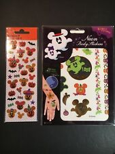 Japanese Disney Halloween Stickers - 2 Sets- Including Rare Neon Body Stickers