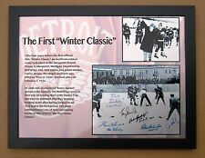 Detroit Red Wings 1st NHL Winter Classic @ Marquette Prison 1954 Photo 12 x 15 !