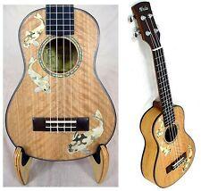 Alulu Solid Curly Maple Carp Inlaid Concert Ukulele Hard Case UPC