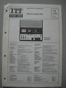 ITT/Schaub Lorenz Stereo Recorder 730 Service Manual, TB040