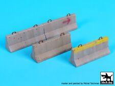 Black Dog 1/35 Concrete Barrier Roadblocks (4 pieces) [Resin Diorama Acc] D35085