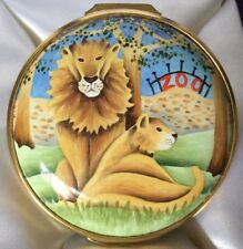 Elliot Hall Enamels Limited Edition Large Zoo Box By  A. Roberts Mint In Box
