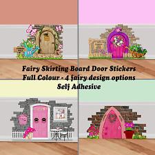 Kids Fairy Pixie Door Wall Art Sticker Decal Decor Cute Graphic Skirting Board