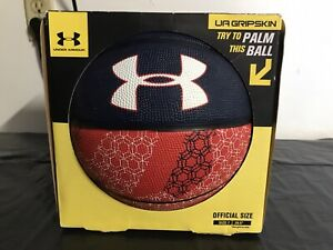 """Under Armer Basketball Ball Size 7-29.5"""" Red And Blue Official Size"""
