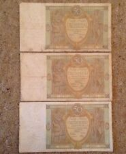 Lot Of 3 X Polish Banknotes. 50 Zlotych. Dated 1929.