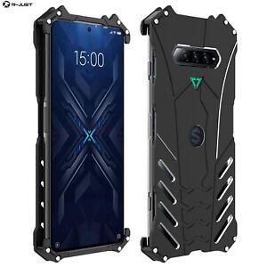 R-JUST Shockproof Armor Metal Back Cover Case For Xiaomi Black Shark 4 Pro / 4