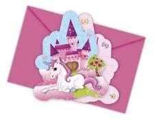 Einhorn 6 Einladungen mit Umschlag Einladungskarten Karten Einladung Feier Party