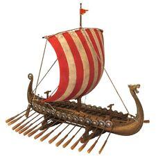 Viking Ship Replica Reproduction Drakkar Oseberg Display Model sculpture