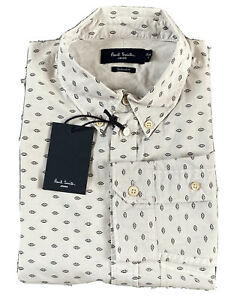 Paul Smith Jeans Mens Shirt -  Casual - Tailored Fit - Cream - size S - RRP £130