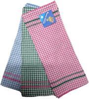 12x Tea Towels Hand Dish Cloth Teatowel 100% Cotton Kitchen Linen Bulk Tea Towel