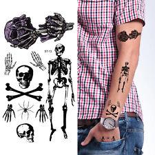 Supperb Temporary Tattoos - Skull Tattoos Halloween Temporary Tattoo