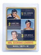 1972-73 Phil Esposito Bobby Orr Jean Ratelle #280 O-Pee-Chee Hockey Card I581